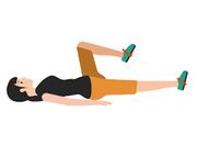 高齢者の運動2:仰向けで膝の曲げ伸ばし