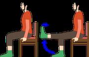 高齢者の運動4:座位での膝の曲げ伸ばし