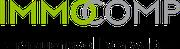 Logodesign für Immocomp · vertrauensvoll verwalten