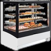 Vitrine réfrigérée de présentation boulangerie contemporaine vitrage droit Montpellier