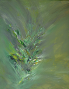 Pflanze,  Acryl auf Leinen, 40x50, 2018