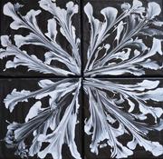 Black and White, Acryl auf Leinen, 40x40, 2018