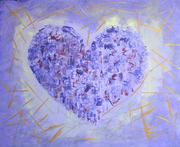 Muttertag,  Acryl auf Leinen, 50x60, 2018