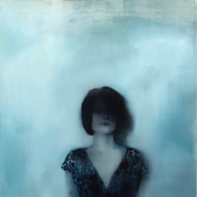 Kind of blue 2017 Öl auf Leinwand 120 x 120 cm
