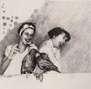 The birds, incl. Rahmen 2018 Bleistift auf Papier  22 x 23 cm