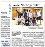 Neue Zuger Zeitung 31.Oct.2013