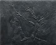 Bûcheron - 48 x 60 cm - 2019 - Edition résine et fer.
