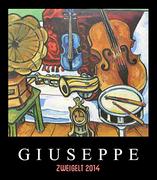 """Matthias Laurenz Gräff, Garser Wein 2016, Rotweinetikette """"Giuseppe"""""""