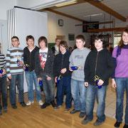 Ehrungen 2009 SKG Stockstadt Tennis - U14 Junioren