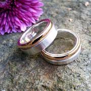 Trauringe, Gold und Silber