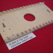 Rollbrett für 220er Traverse bei 35 mm Rohrduchmesser.