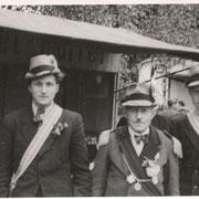1949 links unbekannt, mitte Friedrich Quast,rechts Edmund Schreiber