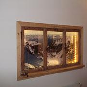 Altes Fenster für indirekte Beleuchtung
