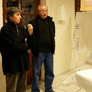 De dire quelques mots - Ici, la présidente du Centre culturel et M. le Maire de Cagnotte