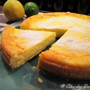 Tarte aux éclats de citron vert et jaune à la ricotta