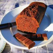 Cake au chocolat et gingembre glacé