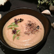 Mousseline de céleri rave au lait de soja à la vanille