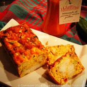 Tortilla de lotte, mitonnade de poivrons aux sésames grillées