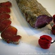 Mignon de porc séché au poivre de Sichuan et piment