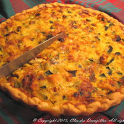 Quiche au poulet, courgettes et curry