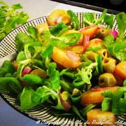Salade de pommes de terre, mâche & échalotes du Clos