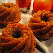 Rosaces moelleuses aux noisettes, huile d'olive à la mandarine