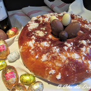 Brioche de Pâques à la fleur d'oranger et sirop de Yuzu