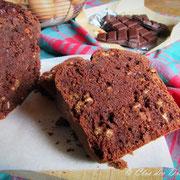 Cake chocolat, müesli-noisettes au blender