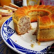 Cake au lait d'amandes, citron et noix du Clos