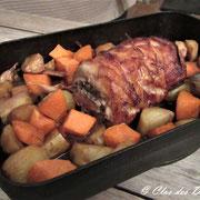 Roulade de porc croustillante au pesto et citron