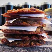 Galettes fines aux flocons d'épeautre et raisins