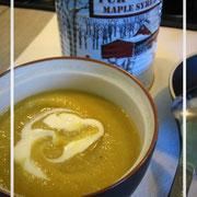 Velouté de topinambour, érable et curry