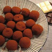 Truffes au chocolat au thé de Noël