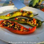 Poivrons cornés farcis aux saveurs de Provence