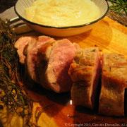 Mignon de porc en fagot de thym frais et romarin frais