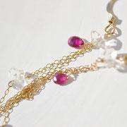 ハーキマーダイヤモンド+ピンクトルマリン+水晶