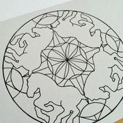 曼荼羅塗り絵