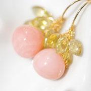 ピンクオパール+レモンクォーツ