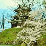 高田城址公園の三重櫓です。