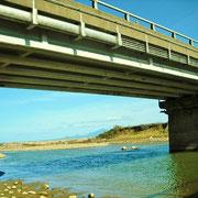サギとカラスが構えていたら、サケが上っている桑取川河口です。