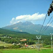 妙高山とスノーパークスキー場。