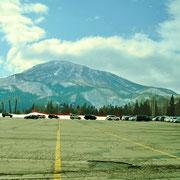 スキー場駐車場です。