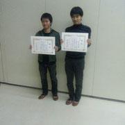 昨年同様2人並んで記念撮影.信越大会での両雄の活躍を期待しております。