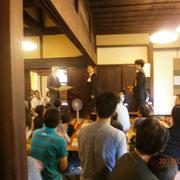 石川先生から日本将棋連盟感謝状が渡されました