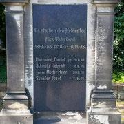 Gedenktafel am Kriegerdenkmal, 13.05.2021