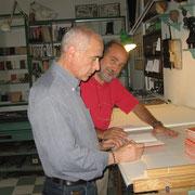 l'editore con il poeta Mario Benedetti