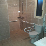 Accéssibilité douche et WC