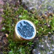Herren Siegelring aus 750er Gelbgold mit Jaspis