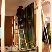 Das Saarbrücker Zimmer wird in der Alten Sammlung aufgebaut