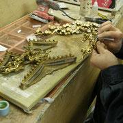 仏壇洗濯・修理 彫刻の下地研ぎ